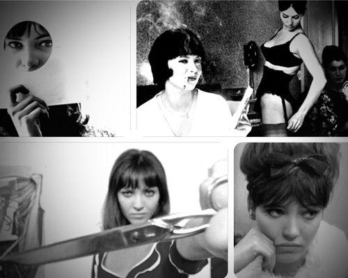 """Anna Karina (de la stânga la dreapta) în """"Le petit soldat"""", """"Vivre sa vie"""", """"Pierrot le Fou"""", """"Une femme est une femme"""""""