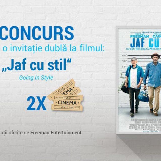 """Concurs: Câștigă o invitaţie dublă la filmul """"Going in Style""""/ """"Jaf cu stil"""""""
