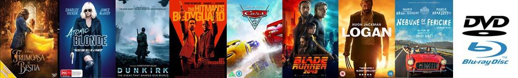 Filme pe DVD, Blu-Ray, Blu Ray 3D şi Blu Ray 4K