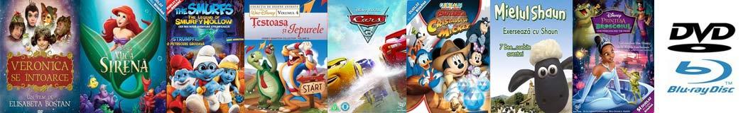 Filme şi desene animate pentru copii pe DVD şi Blu-Ray